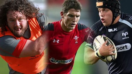 Adam Jones, James Hook and Nicky Smith