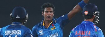 Sri Lanka's Kumar Sangakkara and Angelo Mathews, and India's Ajinkya Rahane