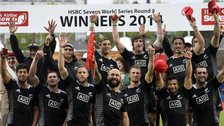 New Zealand celebrate winning the Glasgow Sevens