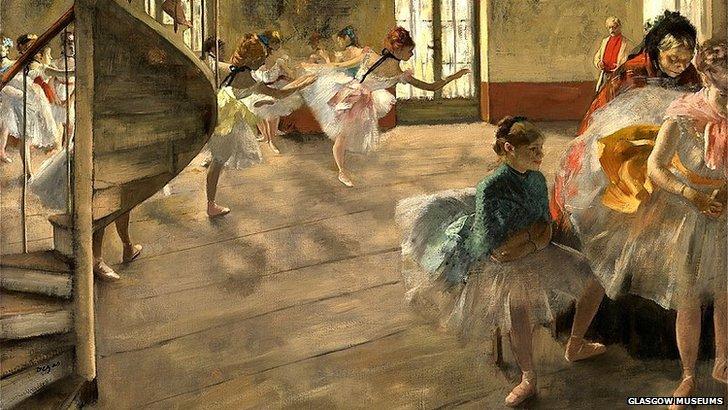 Degas, The Rehersal, 1874