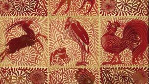 William de Morgan's ruby lustre grotesque animal tile