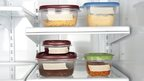 Tupperware boxes in fridge