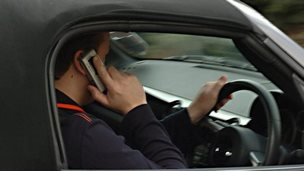 Driving on phone