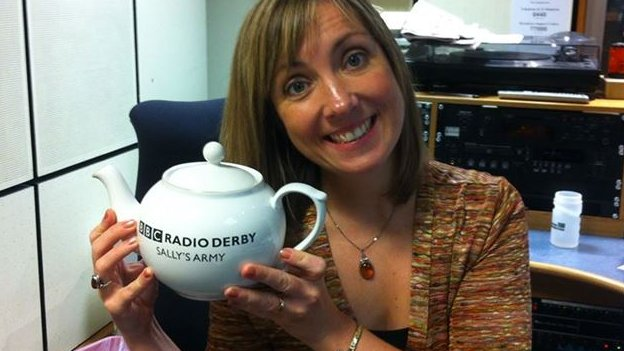 Sally Pepper with her Sally's Army teapot