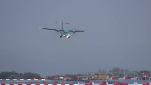 VIDEO: Planes wobble as they land in storm...