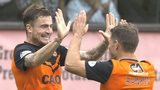 Dundee United midfielders Paul Paton and John Rankin