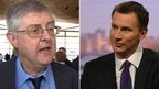Mark Drakeford and Jeremy hunt