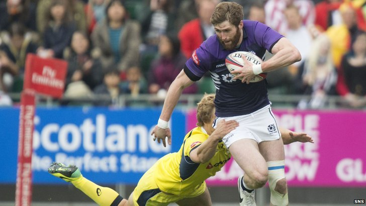scotland in action at the sevens