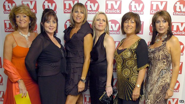 Loose Women Presenters Sherrie Hewson, Coleen Nolan, Carol McGiffin, Jackie Brambles, Lynda Bellingham and Jane McDonald at TV Choice awards 2007