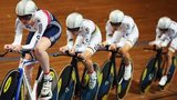 Laura Trott and Katie Archibald in Team GB action