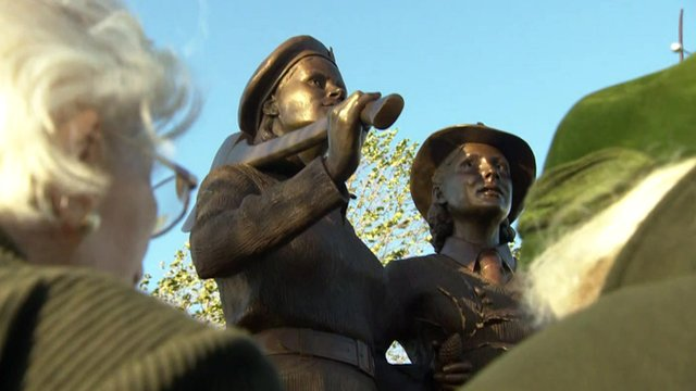 VIDEO: Monument honours the Land Girls...