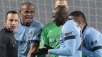 manchester City players protest