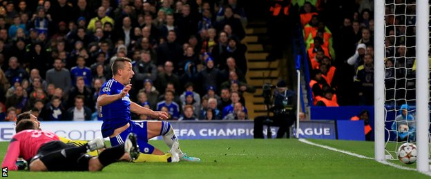 Chelsea scored three goals in the first half against Maribor