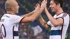 Arjen Robben and Robert Lewandowski