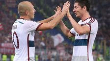Arjen Robben and Robert Lewandowski