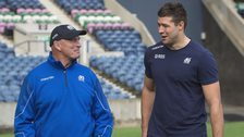 Scotland head coach Vern Cotter and new Scotland captain Grant Gilchrist