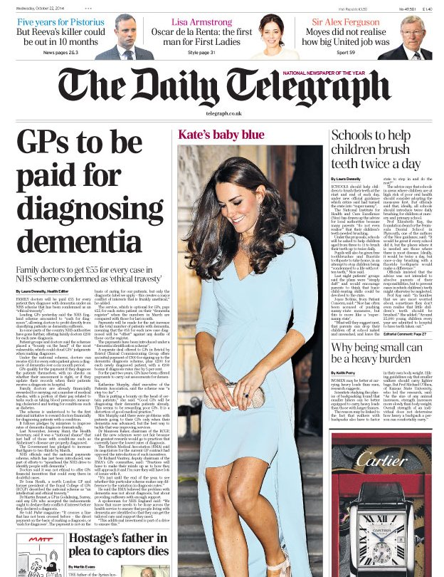 Dementia cash row and coma conman - the papers...