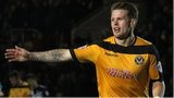 Mark Byrne of Newport County celebrates