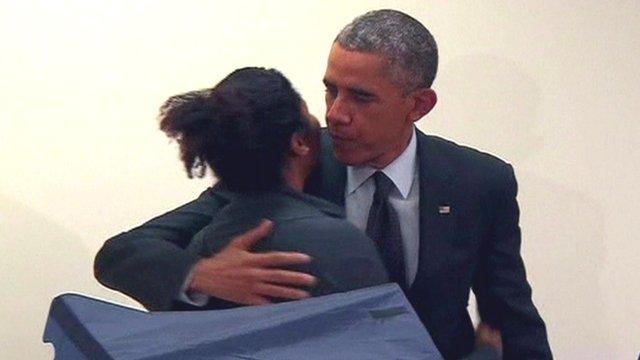 VIDEO: Obama responds to jealous boyfriend...