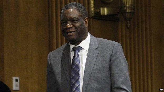 DR Congo doctor wins Sakharov prize...