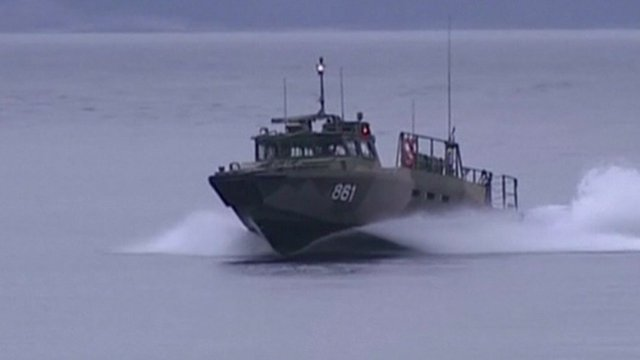 VIDEO: Swedish bay search for 'foreign sub'...