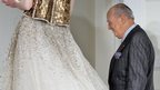 Oscar de la Renta at one of his fashion shows