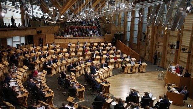 Scottish Parliament chamber at Holyrood