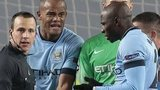 Man City players protest