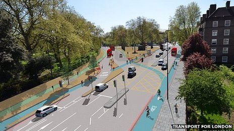 Artists impression of the new lanes