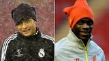 Cristiano Ronaldo & Mario Balotelli training at Anfield