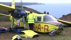 Crashed Channel Islands Air Search plane the Lion's Pride