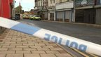Police cordon in front of Freeman Street