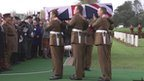 Reburial ceremony for fallen World War One soldier