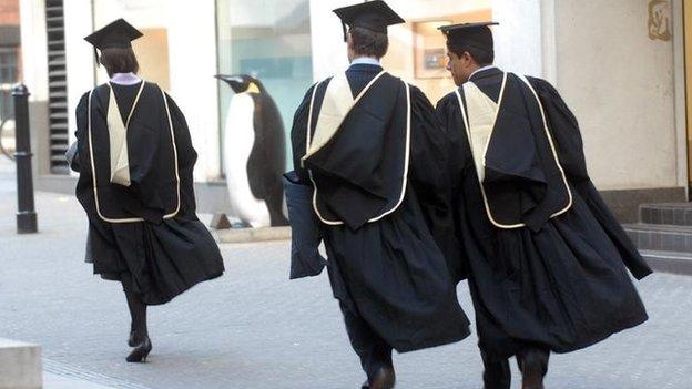 Graduates 'pay fees to universities'...