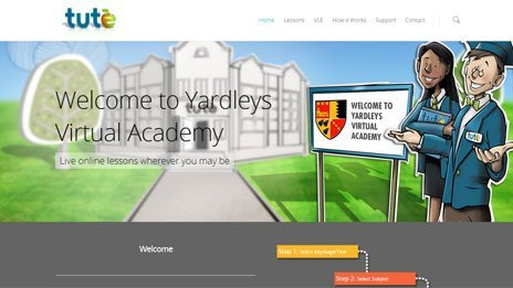 Yardleys Virtual Academy home page