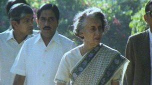 Mr Dhawan with Indira Gandhi
