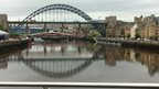 Tyne Bridge and river in Newcastle