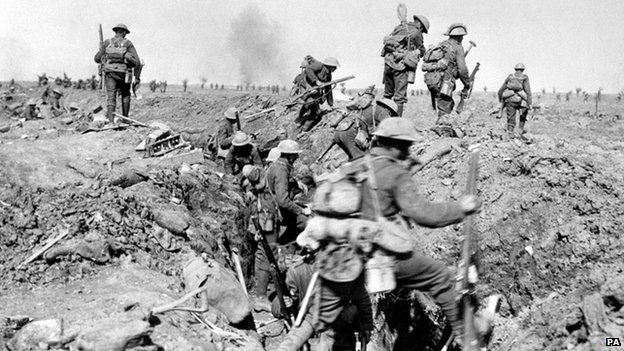 Troops at the Somme