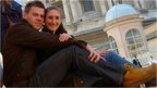 Janina Gehlau with her husband Marcel Gehlau