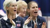 Judy Murray (left) GB's women's coach
