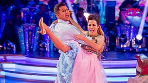 Pasha and Caroline Flack on Strictly Come Dancing