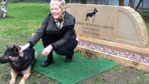 Lancashire police dog memorial