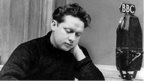 Poet Dylan Thomas at BBC, 1948
