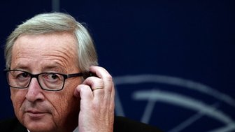 Jean-Claude Juncker in Strasbourg, 22 October