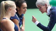 Judy Murray coaches GB women's team