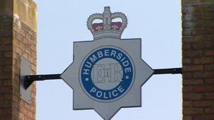 Humberside Police badge on building