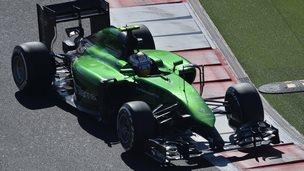 Caterham's Marcus Ericsson during the Russian Grand Prix