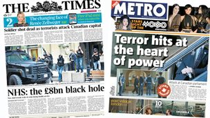 Thursday's front pages
