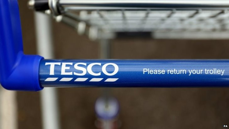 A Tesco trolley