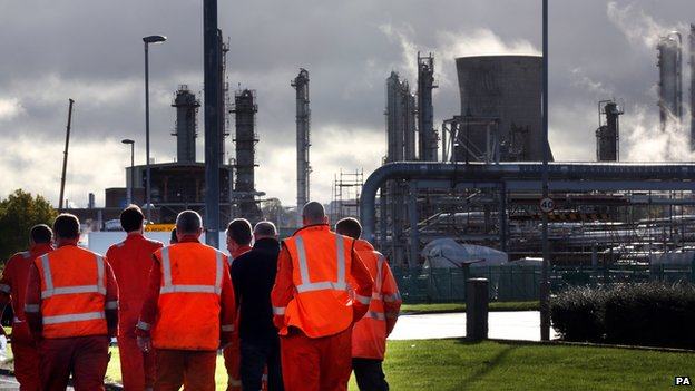 Workers at Grangemouth refinery
